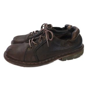 Dr. Martens Men's Brown Leather Oxford Shoes